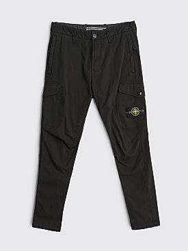 Stone Island Stretch Gabardine Cargo Pants Black