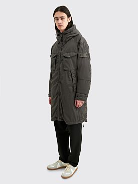 Stone Island Ghost Stretch Wool Nylon TC Down Parka Dark Grey