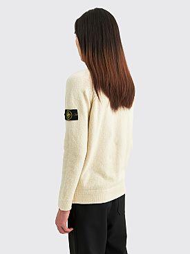 Stone Island Crewneck Knit Sweater Ivory
