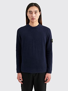 Stone Island Crewneck Knit Sweater Dark Blue