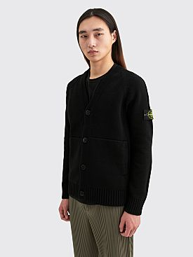 Stone Island Knitted Cardigan Black