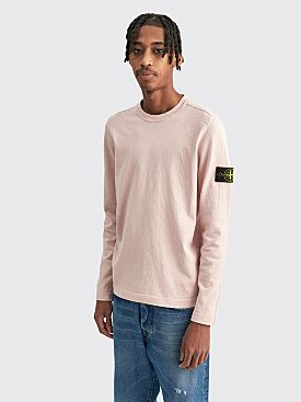 Stone Island Crewneck Cotton Knit Antique Rose