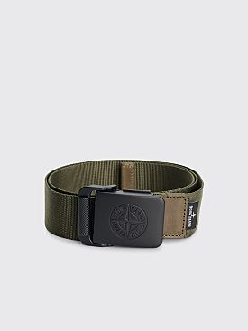 Stone Island Nylon Tape Belt Olive