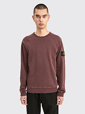 Stone Island Old Effect GD Crewneck Sweatshirt Dark Burgundy