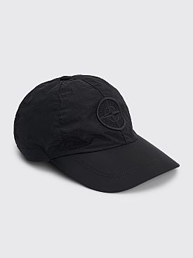Stone Island Six Panel Nylon Metal Cap Black