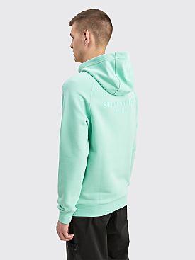 Stone Island Marina Logo Hooded Sweatshirt Aqua