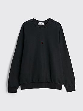 Stone Island Marina Logo Crewneck Sweatshirt Black
