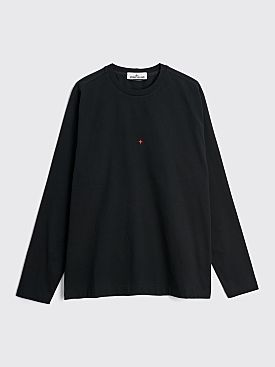 Stone Island Marina Logo LS T-shirt Black