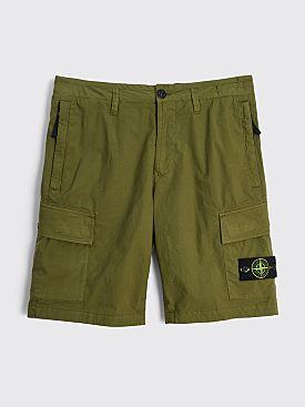 Stone Island Cargo Bermuda Shorts Olive