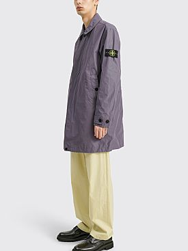 Stone Island Micro Reps Coat Blue Grey