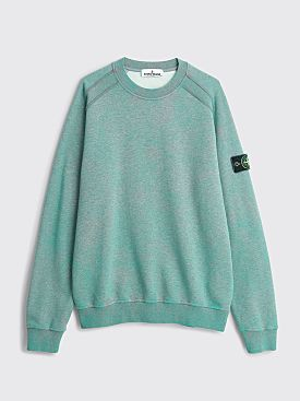 Stone Island Dust Color Treatment Sweatshirt Aqua Melange