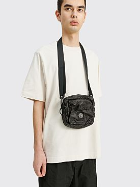 Stone Island Mussola Gommata Canvas Print Bag Black