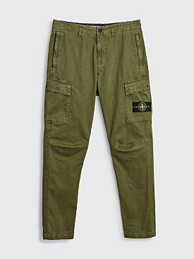 Stone Island Tapered Twill Cargo Pant Olive