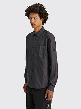 Stone Island GD Cotton Logo Shirt Charcoal
