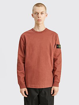 Stone Island Lightweight Crew Sweatshirt Brick Red