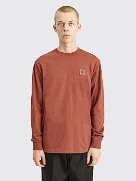 Stone Island GD LS Chest Logo T-shirt Brick Red