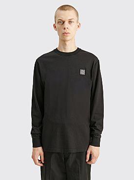 Stone Island GD LS Chest Logo T-shirt Black