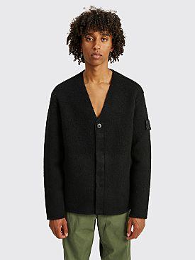 Stone Island Shadow Project Knitted Cardigan Jacket Black
