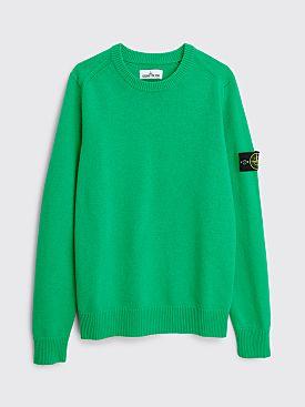 Stone Island Knit Wool Sweater Green