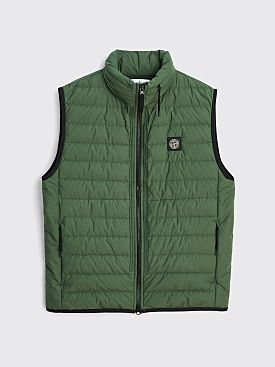 Stone Island Real Down Patch Logo Vest Sage