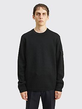 Stone Island Ghost Knit Wool Sweater Black