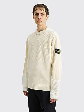 Stone Island Knit Panel Sweater Ivory