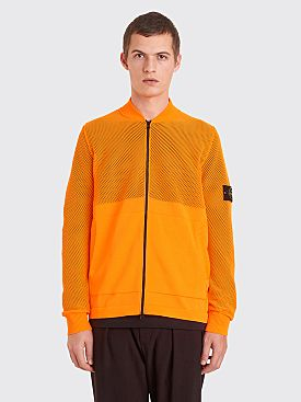 Stone Island Knitted Zip Sweater Orange