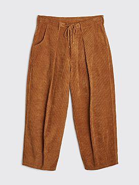 STORY mfg. Lush Pants Bark Brown Corduroy