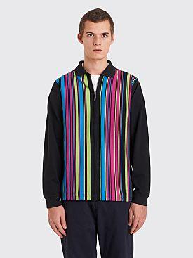 Stüssy Simon Zip Polo Stripe Black