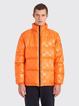 Stüssy Puffer Jacket Checkered Orange