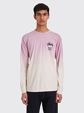 Stüssy Offering Long Sleeve T-shirt Dip Dyed Purple