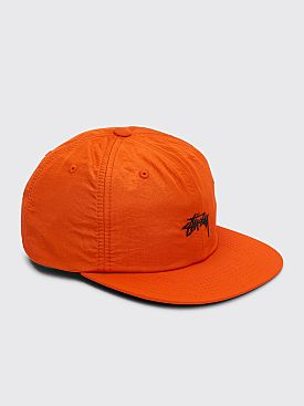 Stüssy Stock Nylon Strapback Cap Orange