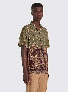 Stüssy Block Paisley Shirt Burgundy / Green