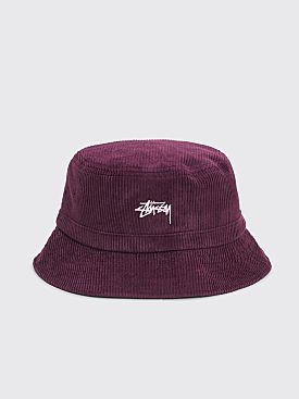 Stüssy Corduroy Bucket Hat Lavendar