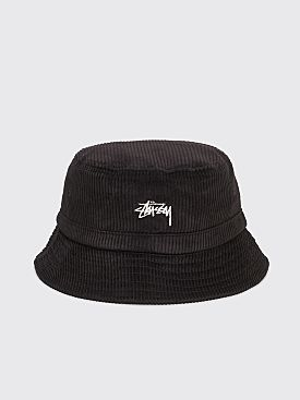 Stüssy Corduroy Bucket Hat Black