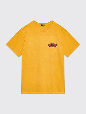 Stüssy Two Bar Oval T-shirt Pigment Dyed Mustard