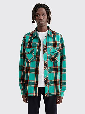 Stüssy Ace Plaid Flannel Shirt Teal