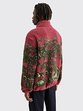 Stüssy Hawaiian Jacquard Mock Sweatshirt Berry