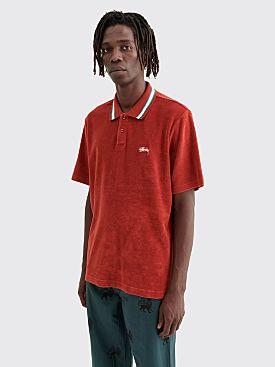 Stüssy Owen Polo T-shirt Cardinal