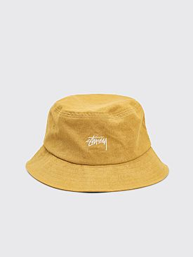 Stüssy Canvas Bucket Hat Yellow