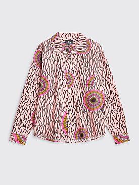 Stüssy Spider Web Flannel LS Shirt Pink