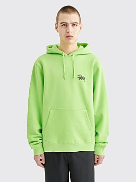 Stüssy Basic Logo Hooded Sweatshirt Green