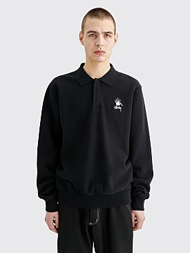 Stüssy Polo Fleece Sweater Black