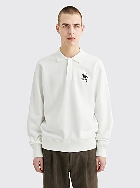 Stüssy Polo Fleece Sweater White