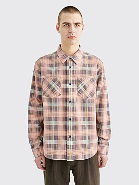 Stüssy Lawrence Plaid Shirt Peach