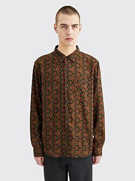 Stüssy Circle Paisley Pattern Shirt Green