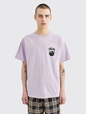 Stüssy 8 Ball Pigment Dyed T-shirt Lavendar