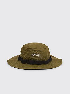 Stüssy 2Tone Nylon Boonie Hat Olive
