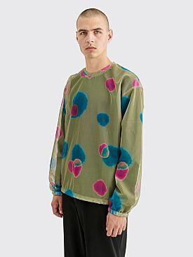 Stüssy Printed LS Mesh T-shirt Multi Olive