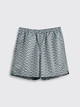 Stüssy Check Nylon Shorts Charcoal